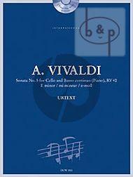 Sonata No.5 e-minor RV 40 Violoncello-Bc