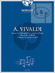 Sonata a-minor Op.14 No.3 RV 43 (Violoncello-Bc)