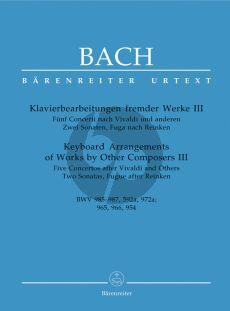 Bach J.S. Klavierbearbeitungen fremder Werke vol.3