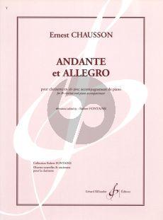 Chausson Andante et Allegro Clarinet Bb - Piano (Fontaine)