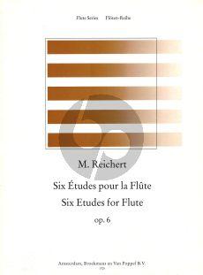 Reichert 6 Etudes Op.6 for Flute (edited by Thies Roorda) (Grade 3)