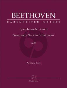 Beethoven Symphony No.4 B-flat major Op.60 Sull Score (edited by Jonathan Del Mar)