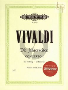 Die 4 Jahreszeiten (4 Seasons) (Violin-Piano with CD for Play-Along) (Bk-Cd)