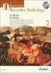 Baroque Recorder Anthology Vol.2 (Descant Rec.-Piano[Guitar ad lib.])