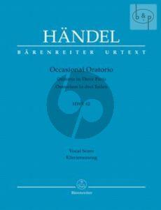 Occasional Oratorio HWV 62 (Oratorio in 3 Parts) (Vocal Score)