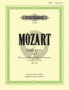 Mozart Concerto G-major KV 313 (Flute-Orch.) (piano red.) (edited by List-Thiele) (Peters)
