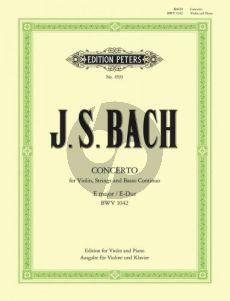Bach Konzert E-dur BWV 1042 Violine-Streicher-Bc Klavierauszug (Strub/Weismann)