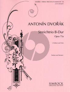 Dvorak Trio B-flat major Op.75A 2 Violins-Viola (Parts)