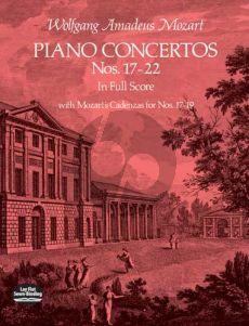 Mozart Pianoconcertos Nos.17-22 Full Score (Dover)