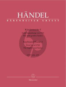 Handel Klavierwerke Vol.1 (Erste Sammlung von 1720, die acht Großen Suiten) HWV 426-433