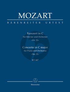 Mozart Concerto C-major KV 467 Piano-Orchestra Study Score