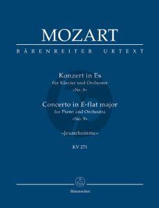 "Mozart Concerto E-flat major KV 271 ""Jeunehomme"" Piano-Orch. Study Score"