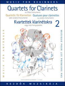 Clarinet Quartets for Beginners Vol. 2 (Score/Parts) (edited by Éva and Péter Perényi)