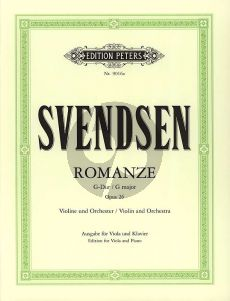 Svendsen Romance G-major Op.26 (orig.violin) (arr. for Viola by Semjon & Bella Kalinowsky)
