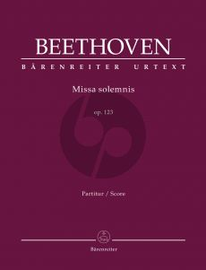 Beethoven Missa solemnis Opus 123 Soli-Choir-Orchestra (Full Score) (Barry Cooper)