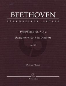 Beethoven Symphony No. 9 D-minor Opus 125 Full Score (edited by Jonathan Del Mar) (Hardcover)