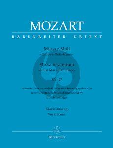 Mozart Missa c-minor KV 427 Soli-Choir-Orchestra (Vocal Score) (edited by Ulrich Leisinger)