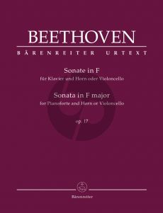 Beethoven Sonata F-major Op. 17 for Pianoforte and Horn or Violoncello (edited by Jonathan Del Mar)