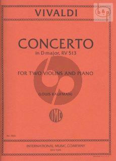 Concerto D-major RV 513 (2 Violins-Str.-Bc)