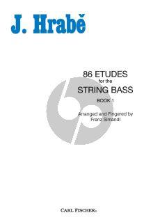 Hrabe 86 Studies Vol.1 String Bass (edited by Franz Simandl)