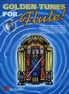 Golden Tunes for Flute! (10 Famous Songs and Evergreens) (Flute) (Bk-Cd) (edited by Ed Wennink) (grade 3)