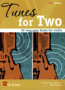 Dezaire Tunes for Two for 2 Violins (30 very easy Duets) (1.Pos.)