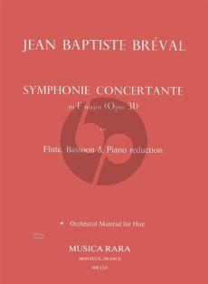 Breval Symphonie Concertante F-major Op.31 (Flute-Bassoon-Piano [red.]) (Lasocki)