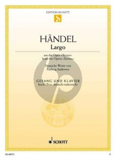 Handel Largo Ombra mai fu (recit: Frondi Tenere Aria) (Xerxes) (Hoch)