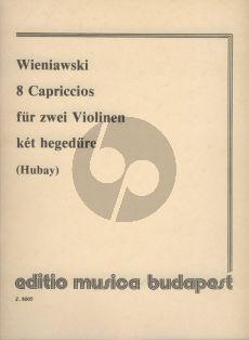 Wieniawski 8 Capriccios Op.18 Violin (with 2nd. Violin) (Hubay)