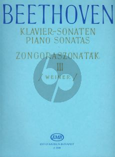 Beethoven Sonatas Vol.3 Piano (edited by Leo Weiner)