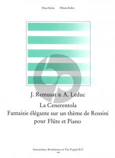 Remusat-Leduc La Cenerentola (Fantasie Elegante sur un Theme de Rossini) Flute-Piano