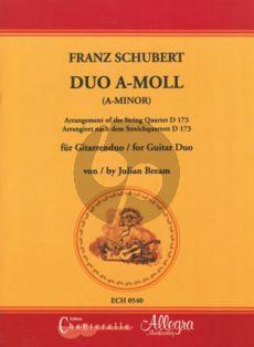 Schubert Duo a-minor (after Quartet g-minor D.173) (2 Guitars Score (arr. Julian Bream)