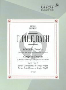 Bach Sonatas Vol.2 WQ 85 [H.508] and WQ 86 Flute with obl.Cembalo (edited by Ulrich Leisinger)