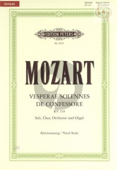 Vesperae Solennes de Confessore KV 339 (Soli-Choir-Orch.-Organ) (Vocal Score)