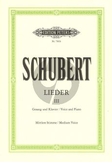 Schubert Lieder Vol.3 (Mittel) (Peters)