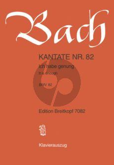 Bach Kantate No.82 BWV 82 - Ich habe genug (genung) (Fassung Bass Stimme) (It is enough) (Deutsch/Englisch) (KA)