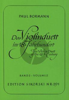 Das Violinduett im 18. Jahrhundert Vol.2 (Paul Bormann)