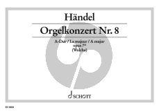 Handel Orgelkonzert No.9 A-dur Op. 7 No. 2 HWV 307 Orgelauszug (Helmut Walcha)