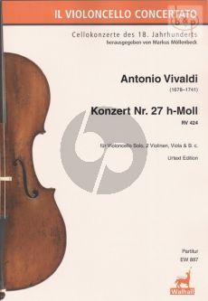 Concerto No.27 B-minor RV 424 (Violonc.solo- 2 Vi.-Va.-Bc.)