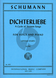 Schumann Dichterliebe Op.48 (A Cycle of 16 Songs) (Low Voice) (Kagen)