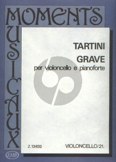 Tartini Grave Violoncello and Piano (edited by Arpad Pejtsik) (transcr. by Friedrich Grützmacher)