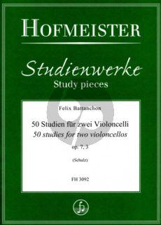 Battanchon 50 Studien Op.7 Vol.3 2 Violoncellos (ed. Walter Schulz)