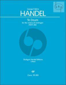 Dettinger Te Deum HWV 283 (Soli-Choir-Orch.) (Study Score)