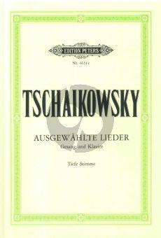 Tschaikovsky 20 Ausgewahlte Lieder (Tief) (Peters) (russ./deutsch)