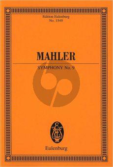 Mahler Symphony No.9 D-major Orchestra Study Score
