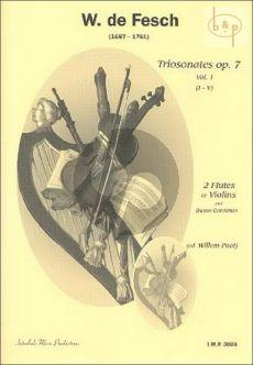 Triosonatas Op. 7 Vol. 1 2 Flutes [Violins] and Bc