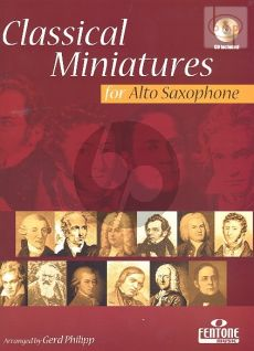 Classical Miniatures (Alto Sax.-Piano) (with Play-Along CD) (Bk-Cd)