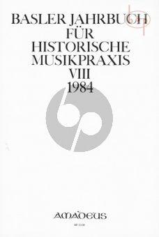 Jahrbuch fur Historische Musikpraxis Vol. 8: 1984