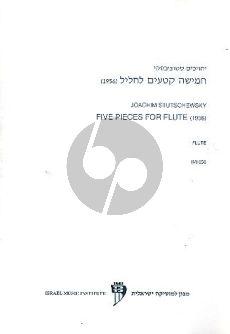 Stutschewsky 5 Pieces Flute solo