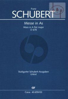 Messe A-flat major D.678 (Soli-Choir-Orch.) (Vocal Score)